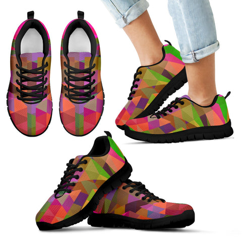 Multicolor Geometric Pattern Kid's Sneakers