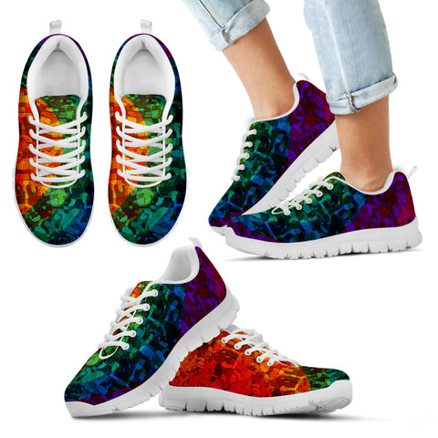 Rainbow AAbstract Kids Shoes