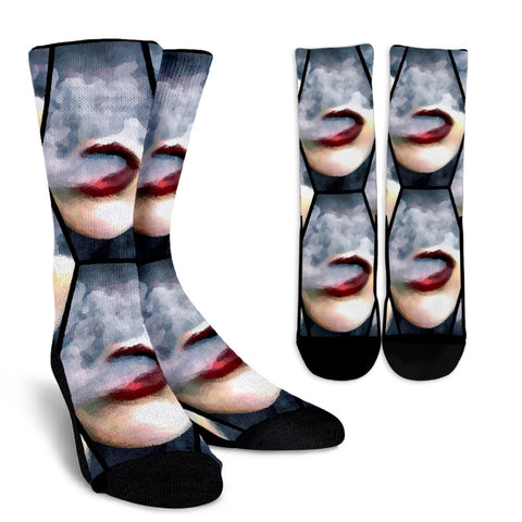 Blowing Clouds Vape Art Crew Socks