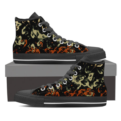Paint Splatter Men's Canvas Hightop Shoes