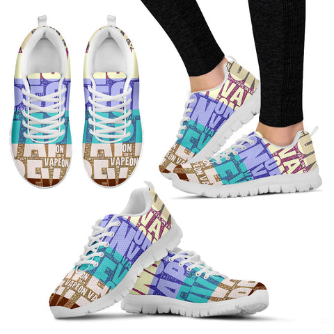 Vape On Typography Women's Running Shoes