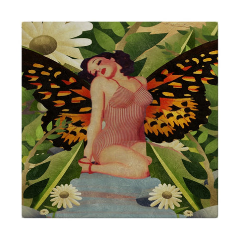 Pinup Butterfly Flowers Cloth Napkins