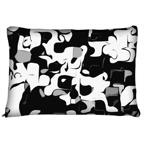 Black White Abstract Pattern Dog Beds