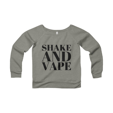 Shake And Vape Women's Sponge Fleece Wide Neck Sweatshirt
