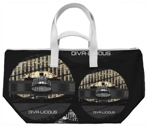 Divalicious Bling Lips Weekend Bag - Ocdesignzz