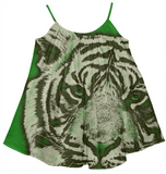 Kids Green Tiger Tent Dress - Ocdesignzz  - 1