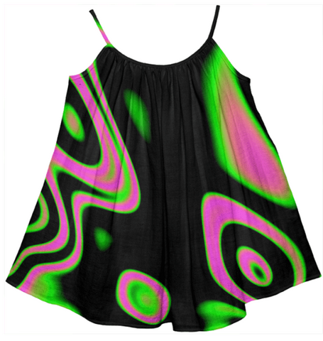 Kids Pink Psychedelic Tent Dress - Ocdesignzz  - 1