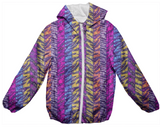 Kids Funky Zebra  Abstract Rain Jacket - Ocdesignzz  - 1
