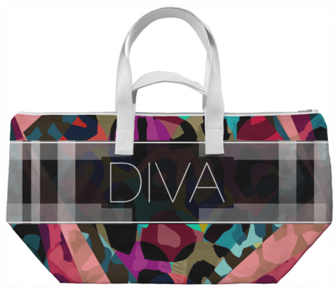 Rainbow Cheetah Diva Weekend Bag - Ocdesignzz