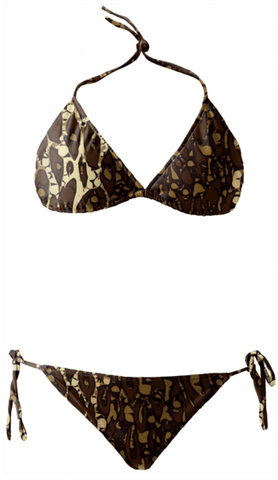 Brown Sugar Animal Print Bikini - Ocdesignzz  - 1