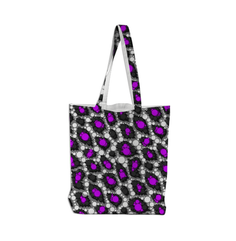 Purple Leopard Tote Bag - Ocdesignzz
