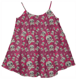 Cute Skulls Girls Summer Dress - Ocdesignzz  - 1