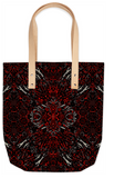 Fire Red Zebra Abstract Pattern Summer Tote - Ocdesignzz  - 1