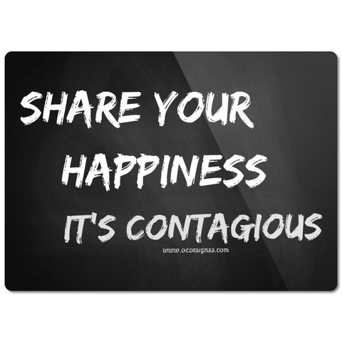 Share Your Happiness Glass Cutting Board