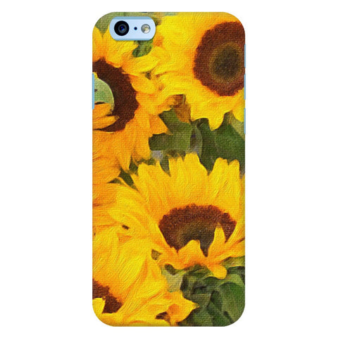Beautiful Painted Sunflowers iPhone Samsung Galaxy Cases