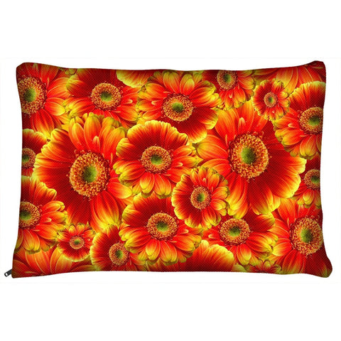Beautiful Vibrant Flowers Dog Bed