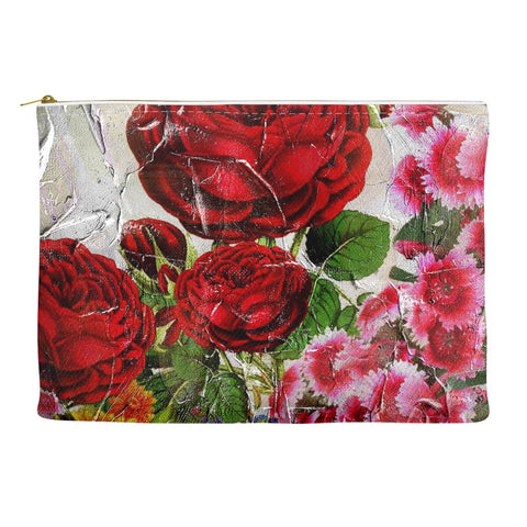 Gorgeous Painted Roses Accessory Pouches