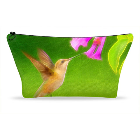 Beautiful Painted Hummingbird Accessory Pouches