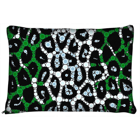 Green Bling Pattern Dog Bed