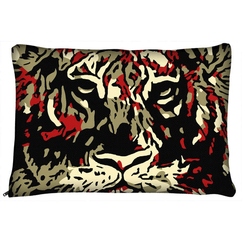 Abstract Tiger Dog Bed