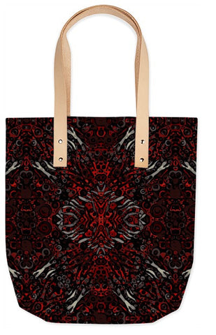Fire Red Zebra Abstract Pattern Summer Tote - Ocdesignzz  - 2
