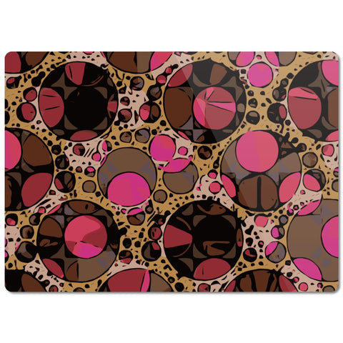 Pink Retro Bling Glass Cutting Board