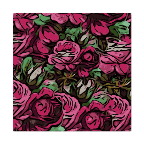 Pink Roses Cloth Napkins