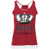Royal Bitxh Crown Juniors' Vintage Heathered Tank - Ocdesignzz  - 4