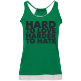 Hard To Love Harder To Hate Juniors' Vintage Heathered Tank - Ocdesignzz  - 2
