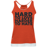 Hard To Love Harder To Hate Juniors' Vintage Heathered Tank - Ocdesignzz  - 3