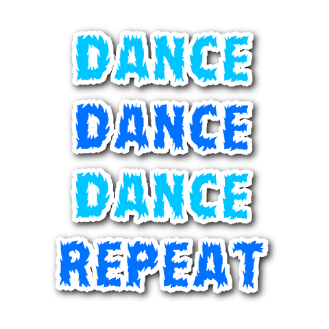 Dance Repeat Vynil Stickers
