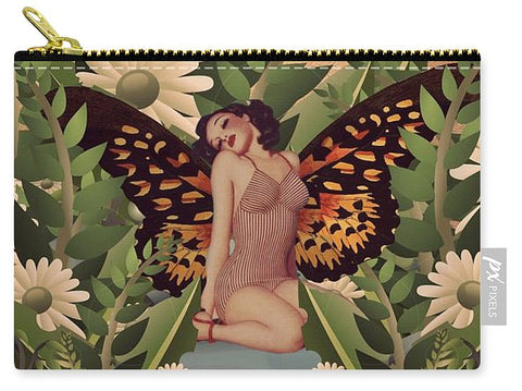 Beautiful Pinup Butterfly Garden  - Carry-All Pouch