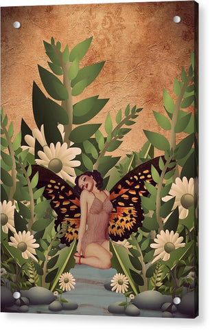 Beautiful Pinup Butterfly Garden  - Acrylic Print