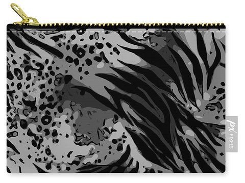 Black African Animal Print  - Carry-All Pouch