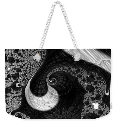 Black Liquor Fractal  - Weekender Tote Bag