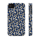 Blue Cheetah Print Phone Case - Ocdesignzz  - 8