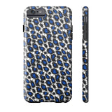 Blue Cheetah Print Phone Case - Ocdesignzz  - 4