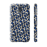 Blue Cheetah Print Phone Case - Ocdesignzz  - 12