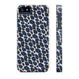 Blue Cheetah Print Phone Case - Ocdesignzz  - 5