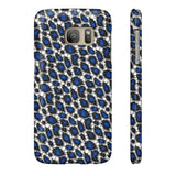 Blue Cheetah Print Phone Case - Ocdesignzz  - 13