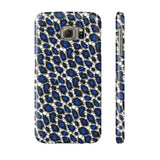 Blue Cheetah Print Phone Case - Ocdesignzz  - 10