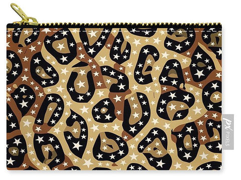 Cheetah Print Stars - Carry-All Pouch