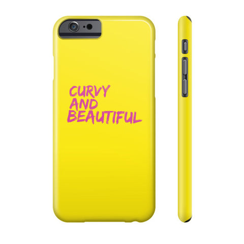 Curvy And Beautiful Pink Yellow Phone Case - Ocdesignzz  - 2