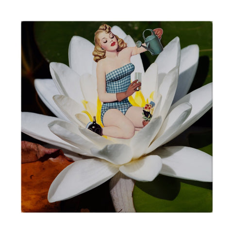 Pinup Watering Flowers Cloth Napkins
