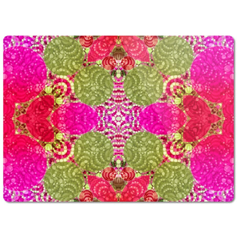 Hot Pink Green Abstract Glass Cutting Board