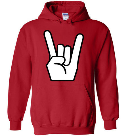 Rocker Hand Adults and Youth Gildan Heavy Blend Hoodie