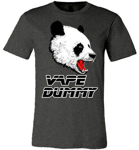Panda Vape Dummy Canvas Unisex T-Shirt