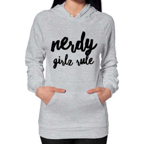 Nerdy Girls Rule Hoodie (on woman) - Ocdesignzz  - 1