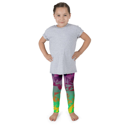 Florescent Colorful Geometric Pattern Kid's Pants leggings
