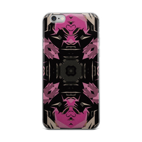 Pink Powder Black Abstract iPhone case - Ocdesignzz  - 1